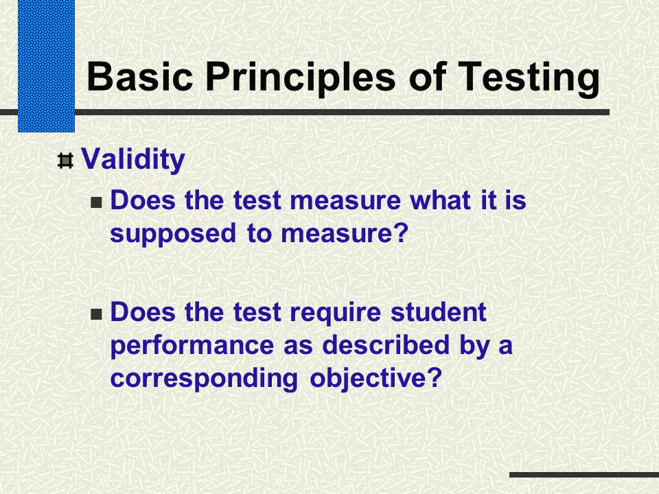 Basic Principles of Testing