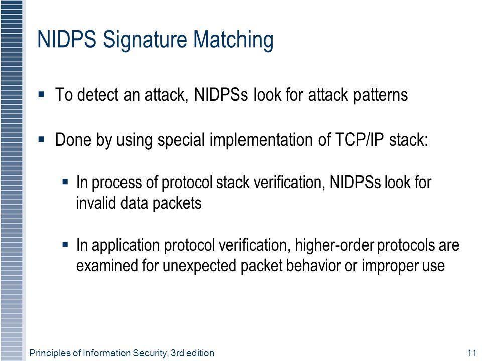 NIDPS Signature Matching