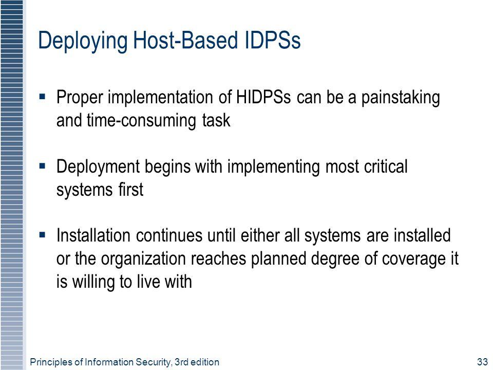 Deploying Host-Based IDPSs