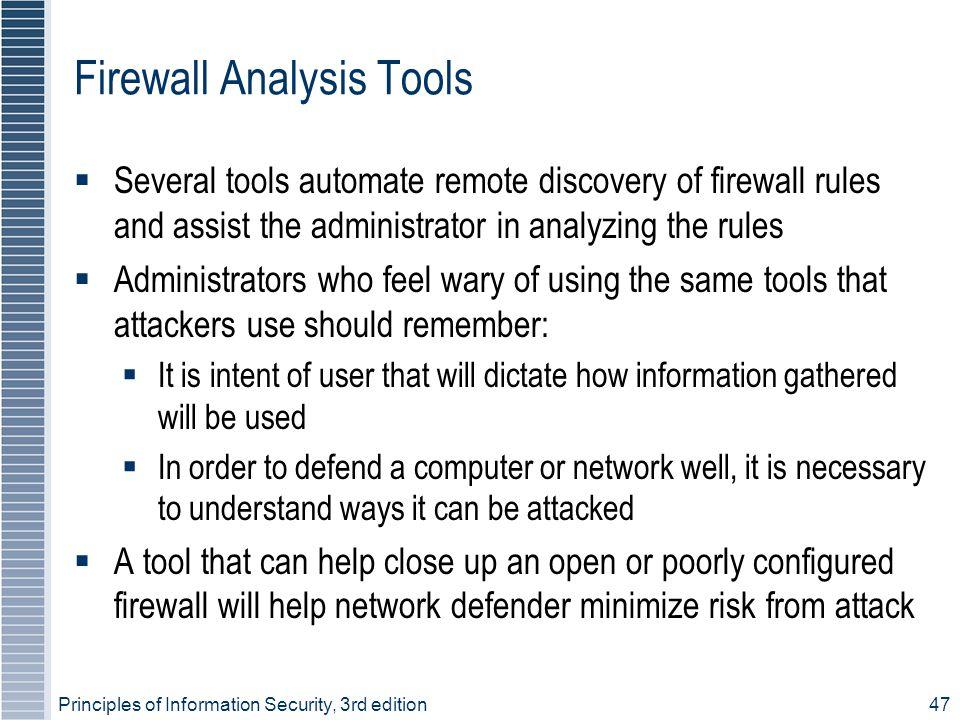 Firewall Analysis Tools