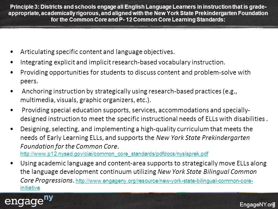 Articulating specific content and language objectives.