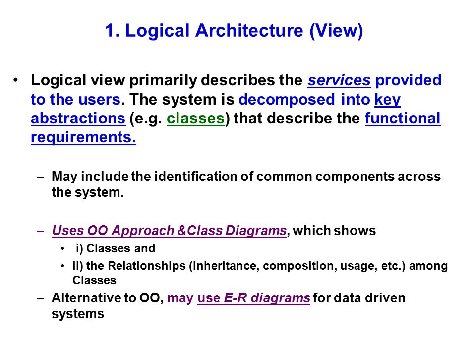 1. Logical Architecture (View)