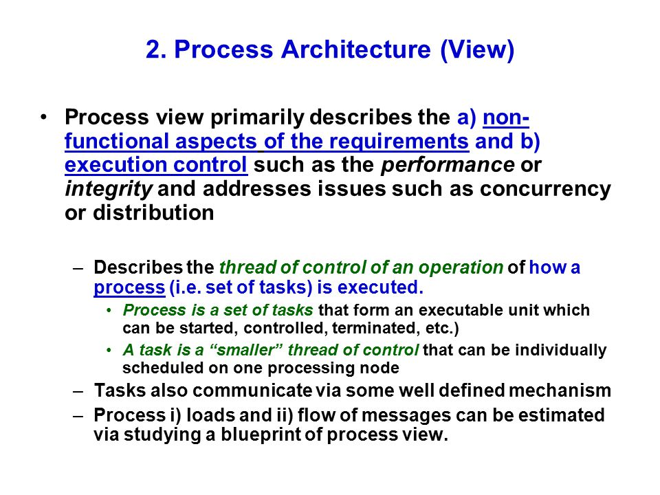 2. Process Architecture (View)