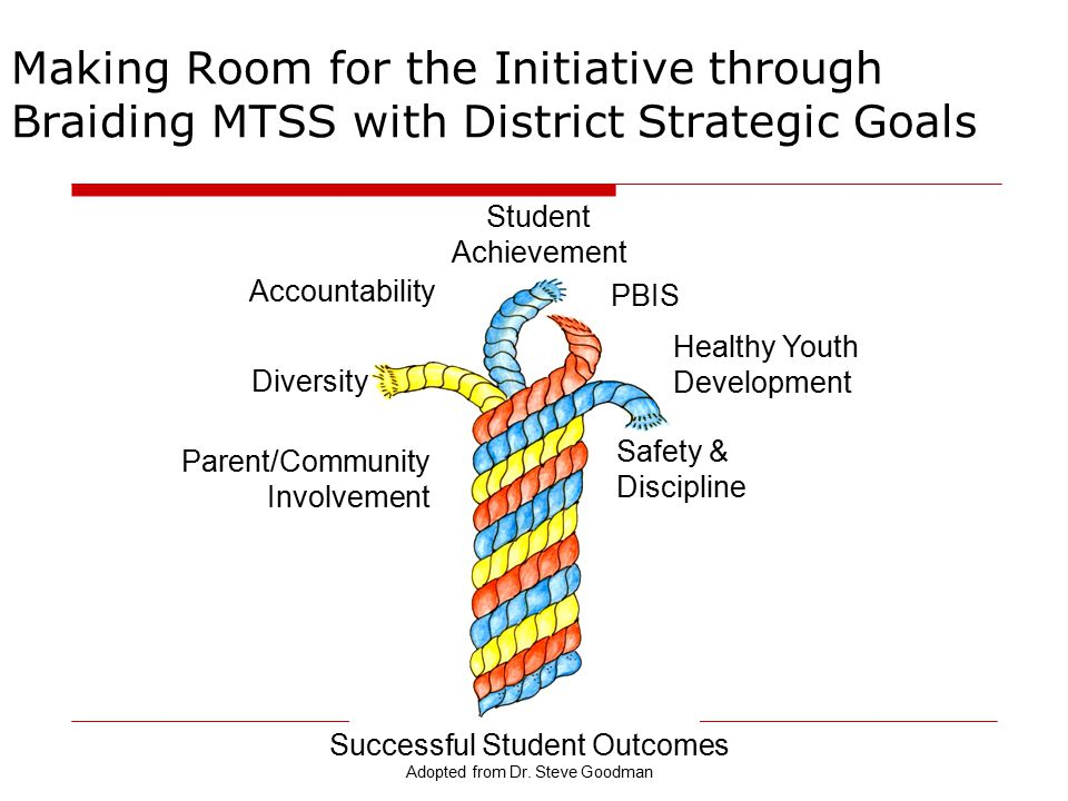 Making Room for the Initiative through Braiding MTSS with District Strategic Goals