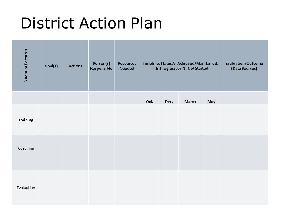 District Action Plan On our website O Hare & Powers, 2010