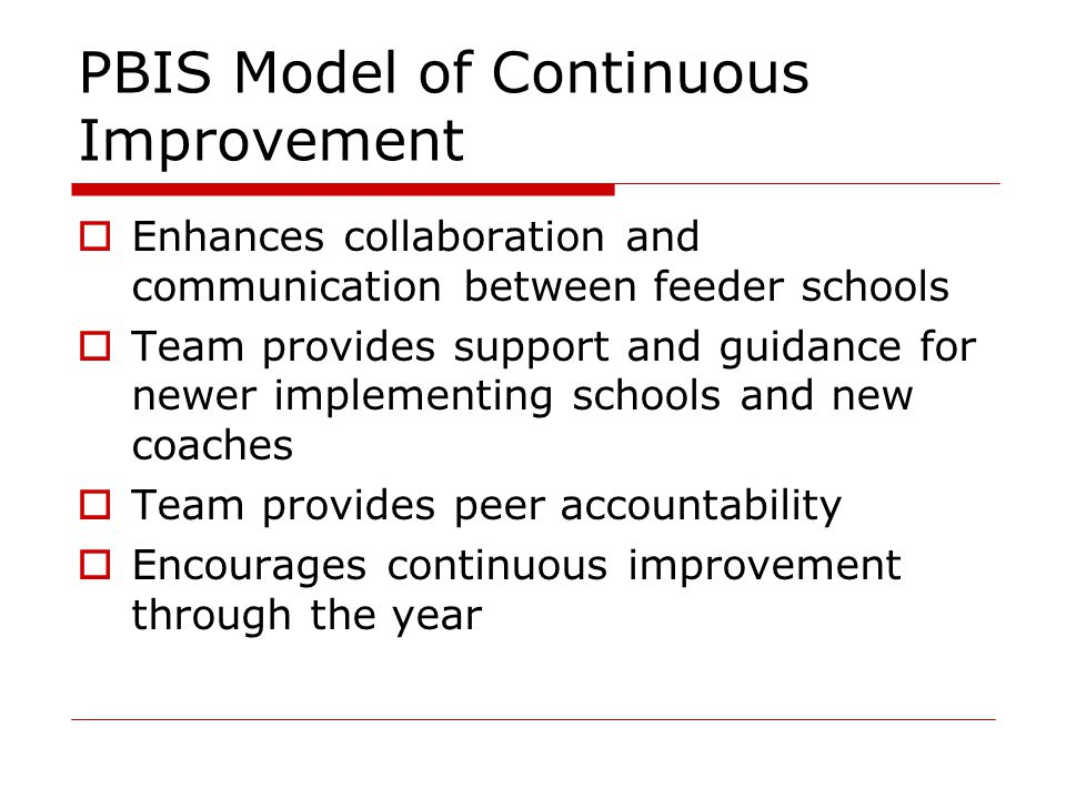 PBIS Model of Continuous Improvement