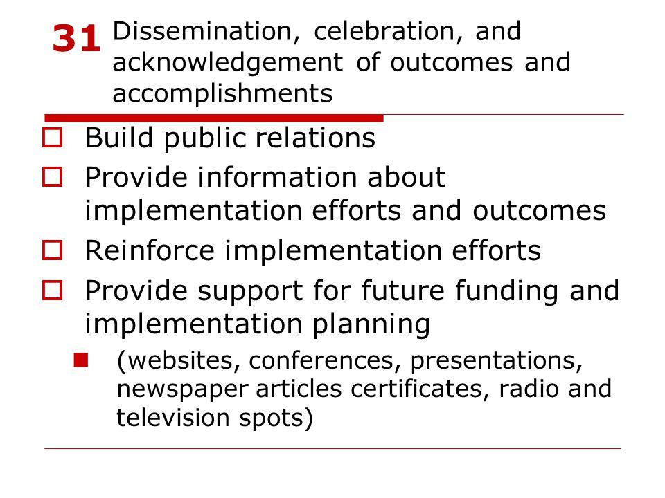 31 Build public relations