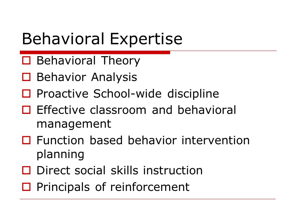 Behavioral Expertise Behavioral Theory Behavior Analysis