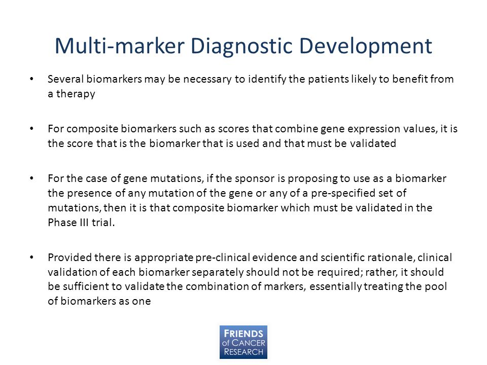 Multi-marker Diagnostic Development