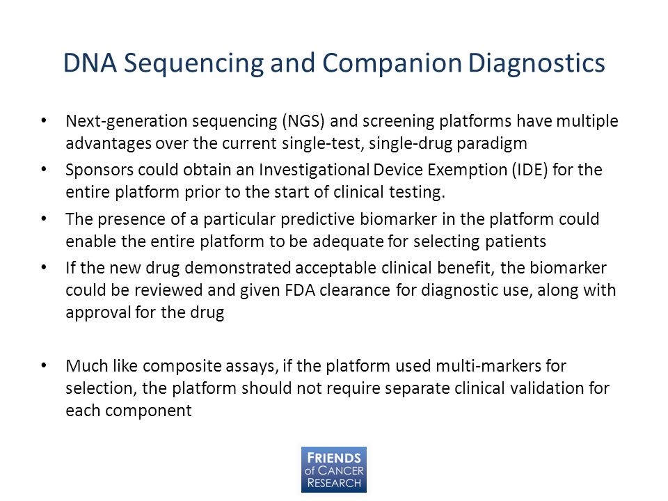 DNA Sequencing and Companion Diagnostics
