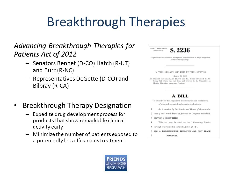 Breakthrough Therapies