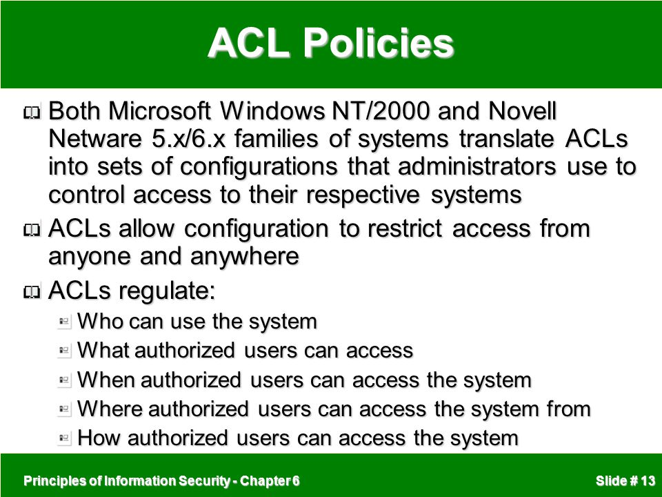 ACL Policies