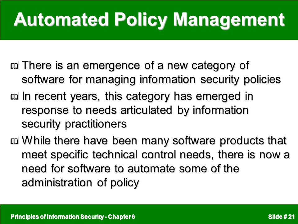 Automated Policy Management