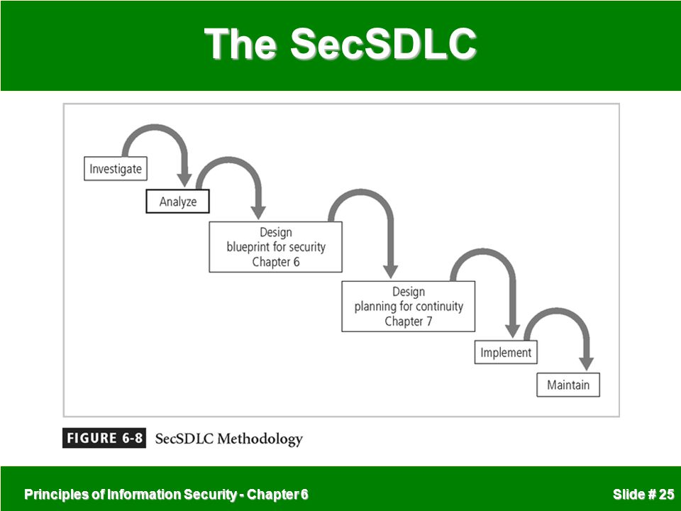 The SecSDLC Principles of Information Security - Chapter 6