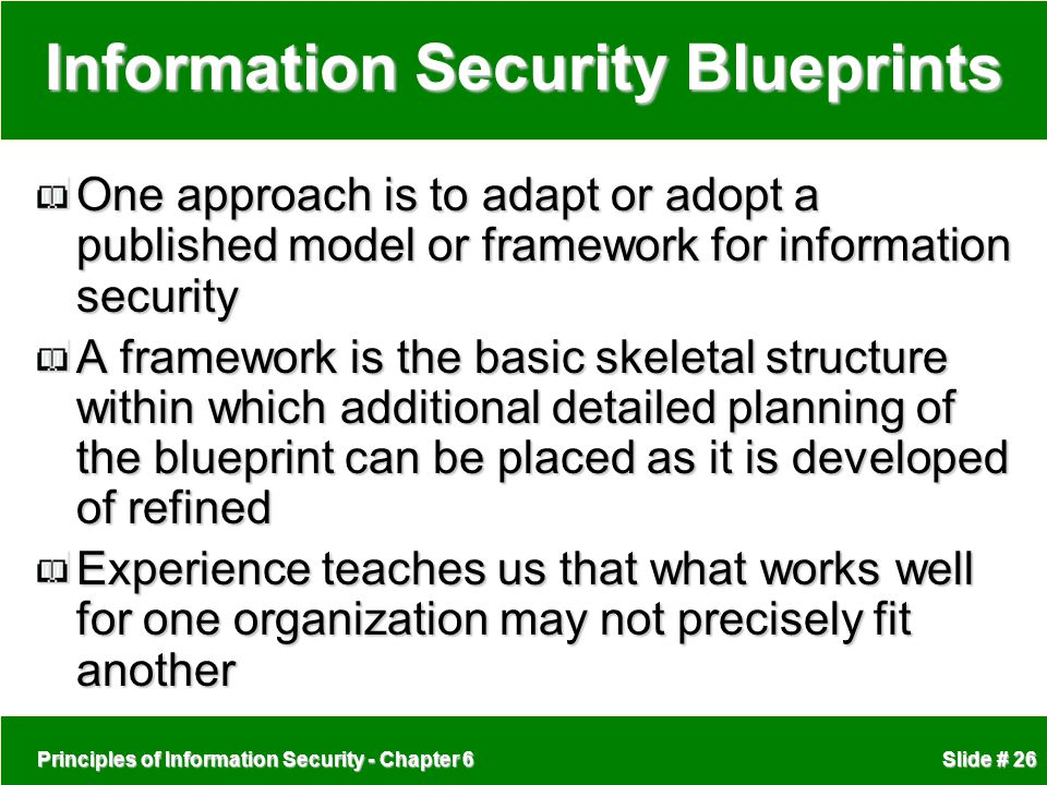 Information Security Blueprints