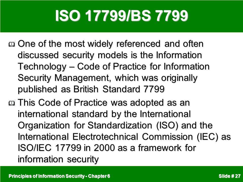 ISO 17799/BS 7799