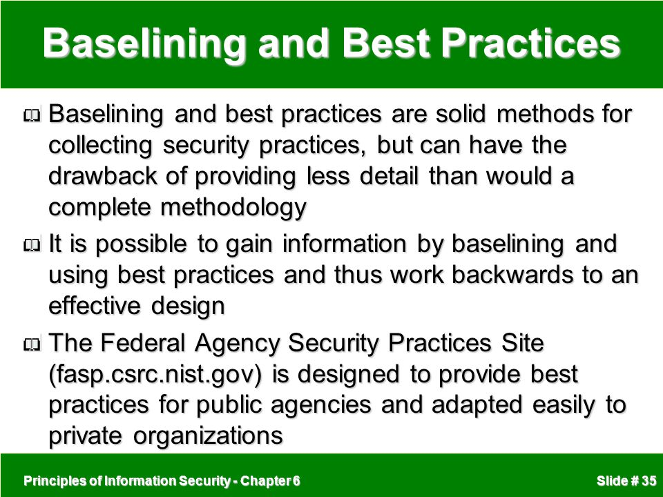 Baselining and Best Practices