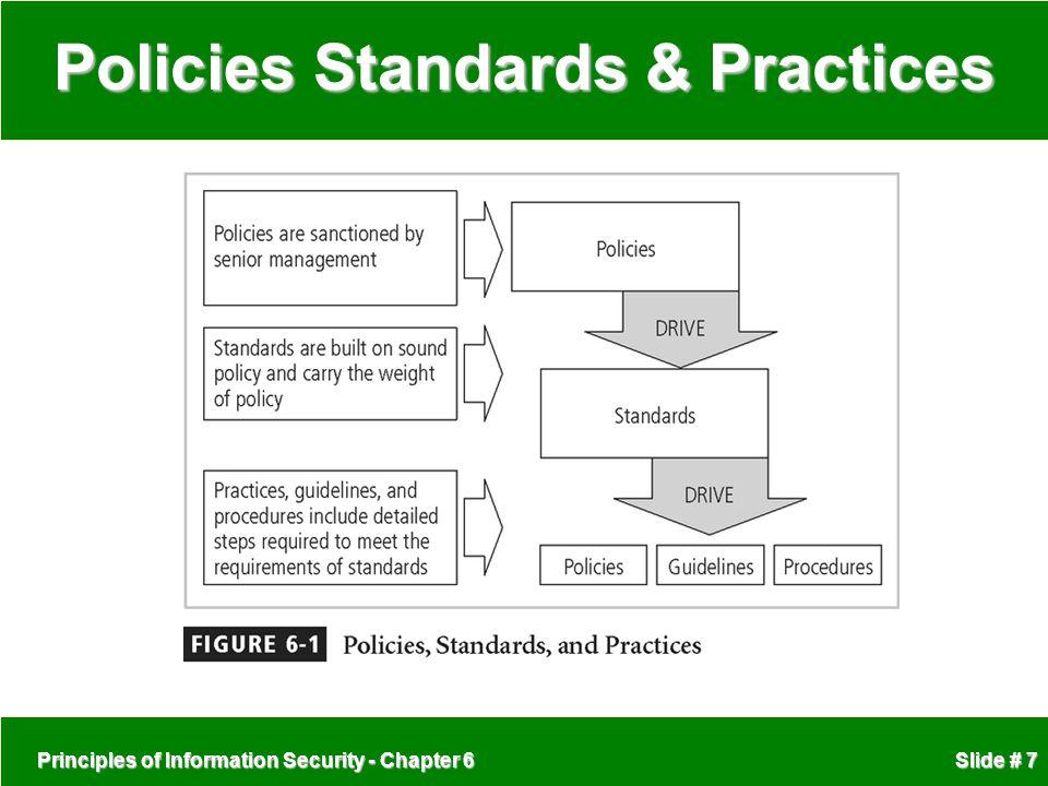 Policies Standards & Practices