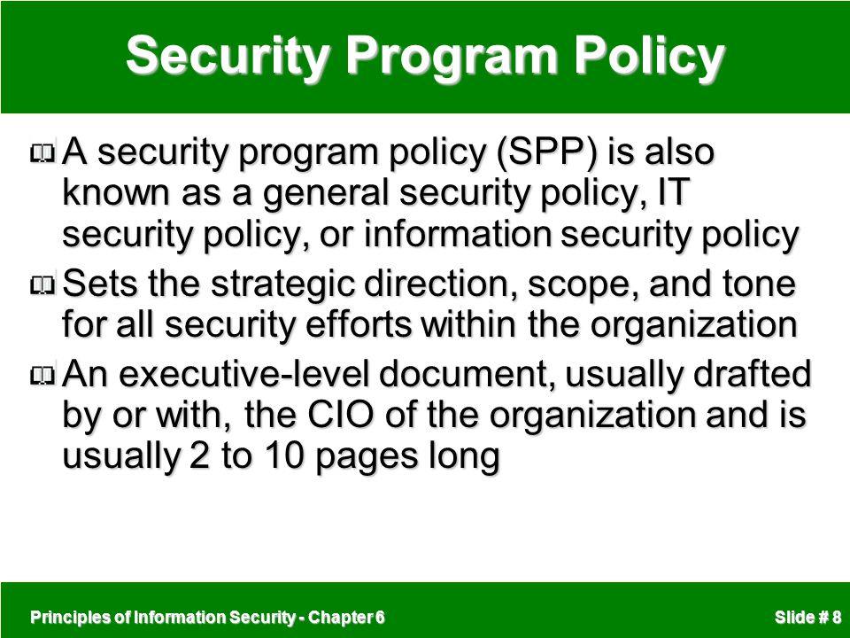 Security Program Policy