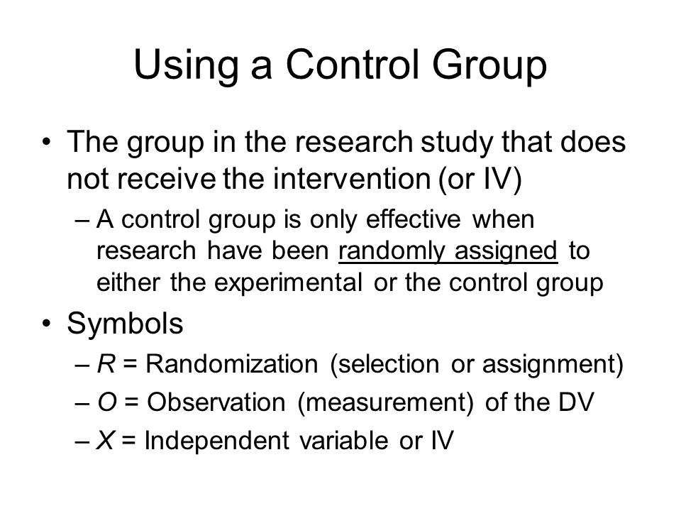 Wait List Control Groups in Psychology Experiments