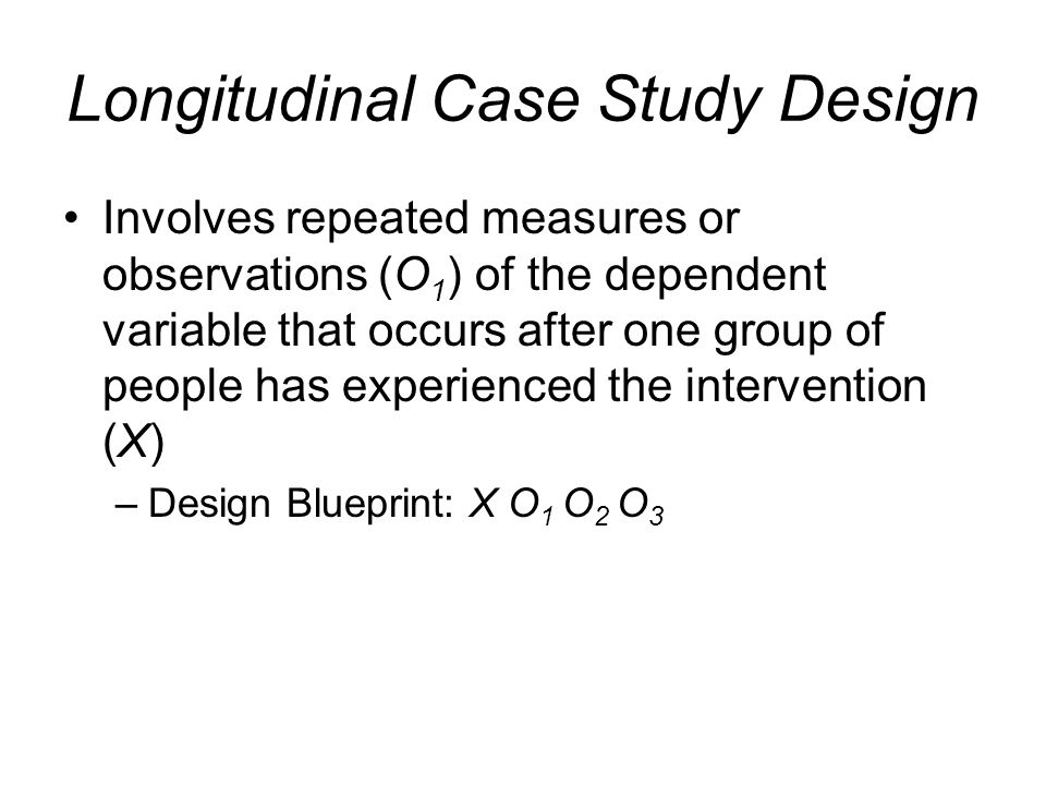 longitudinal case study