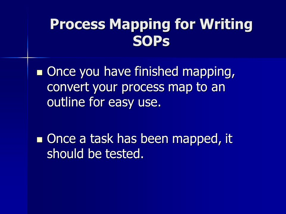 Process Mapping for Writing SOPs
