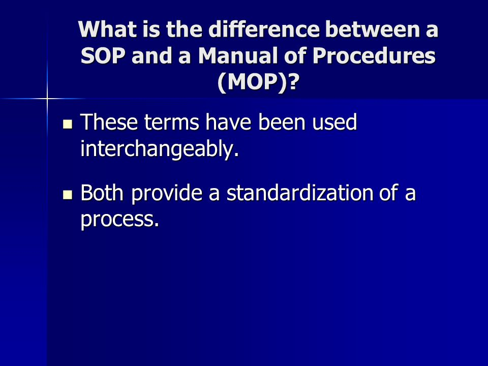 Why Sop Is Used. Standard Operating Procedure (Sop) Helminth Tests