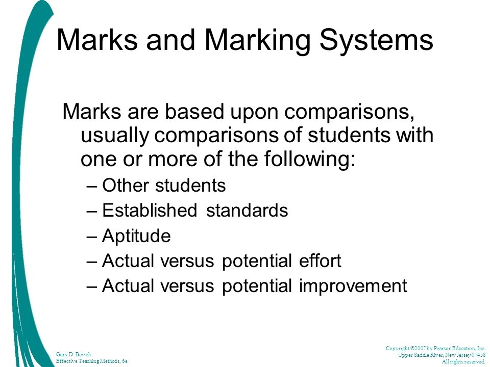 Marks and Marking Systems