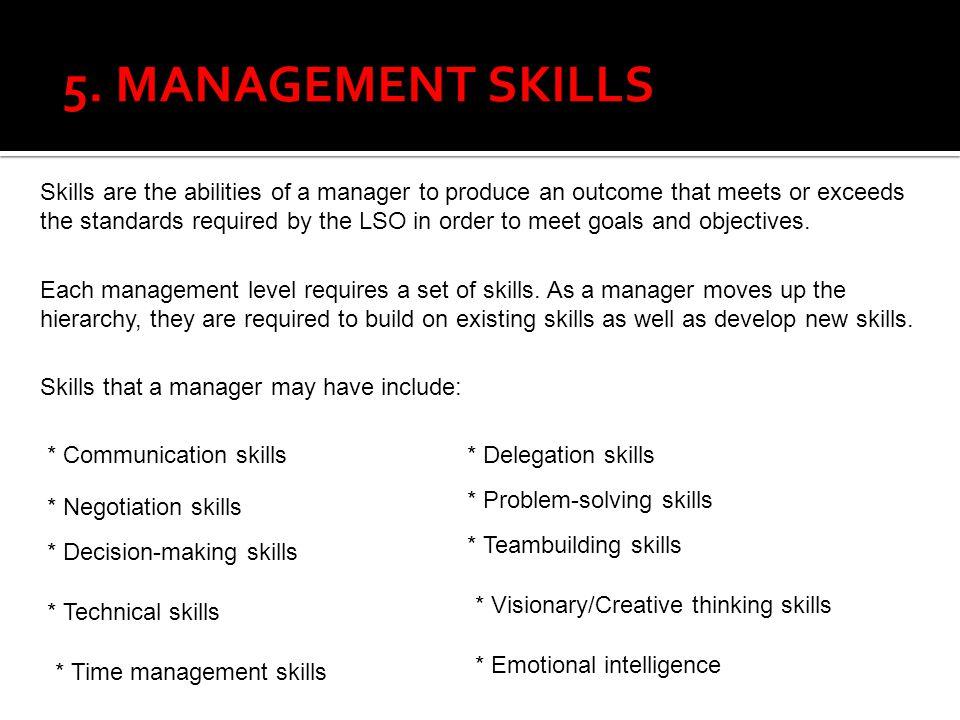5. MANAGEMENT SKILLS
