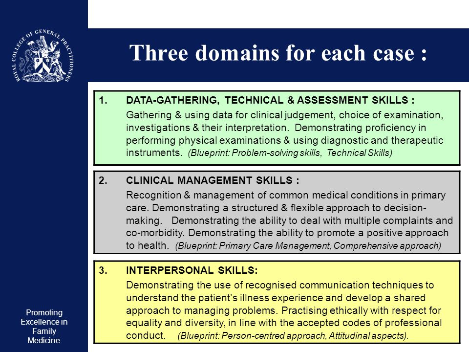 Three domains for each case :
