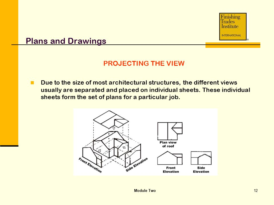 Plans and Drawings PROJECTING THE VIEW