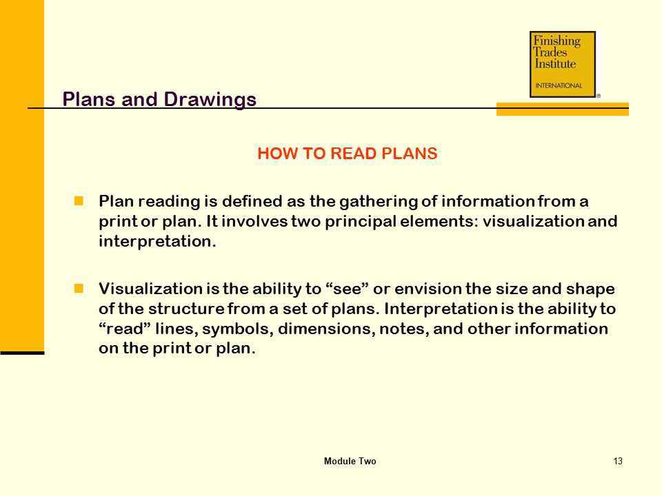 Plans and Drawings HOW TO READ PLANS