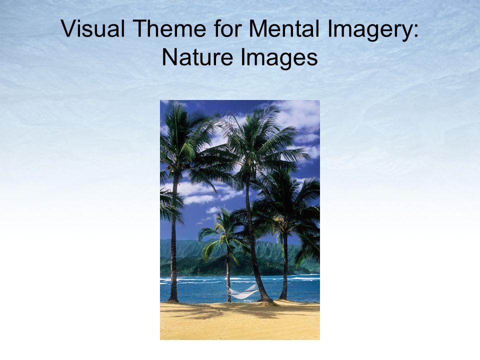 Visual Theme for Mental Imagery: Nature Images
