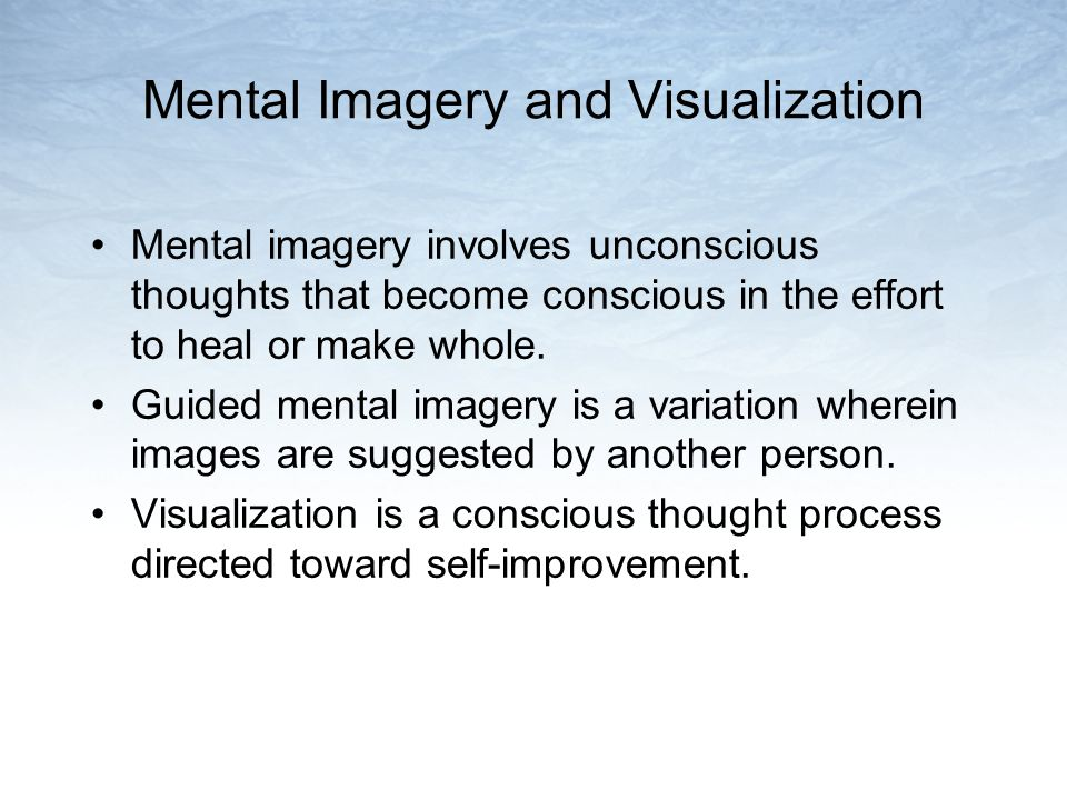 Mental Imagery and Visualization