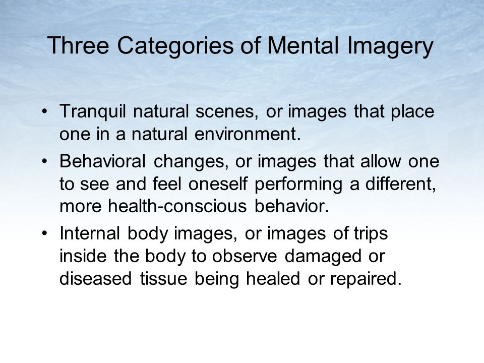 Three Categories of Mental Imagery