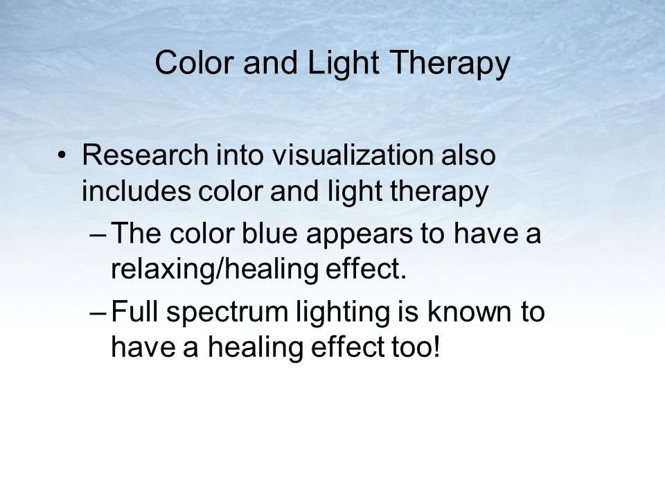 Color and Light Therapy