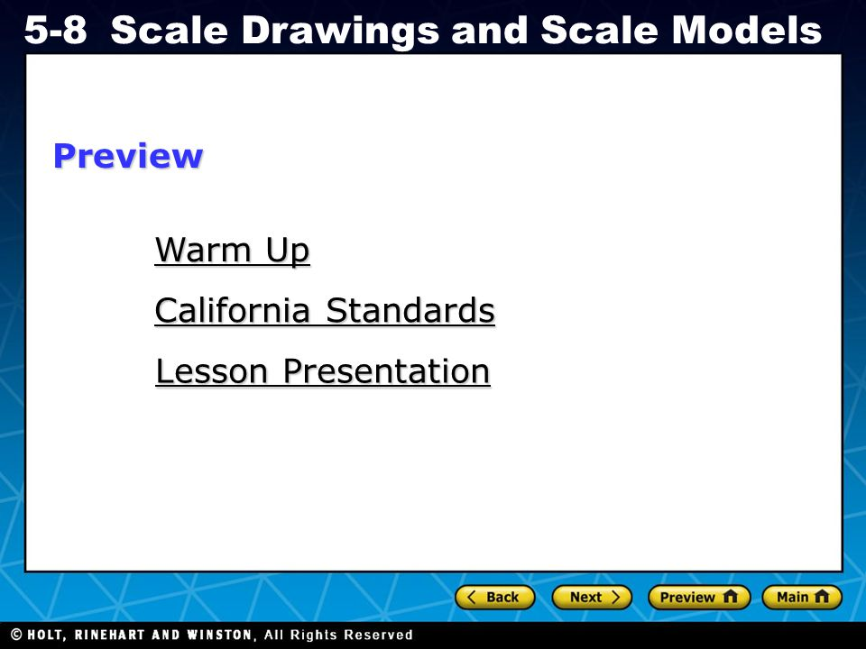 Preview Warm Up California Standards Lesson Presentation