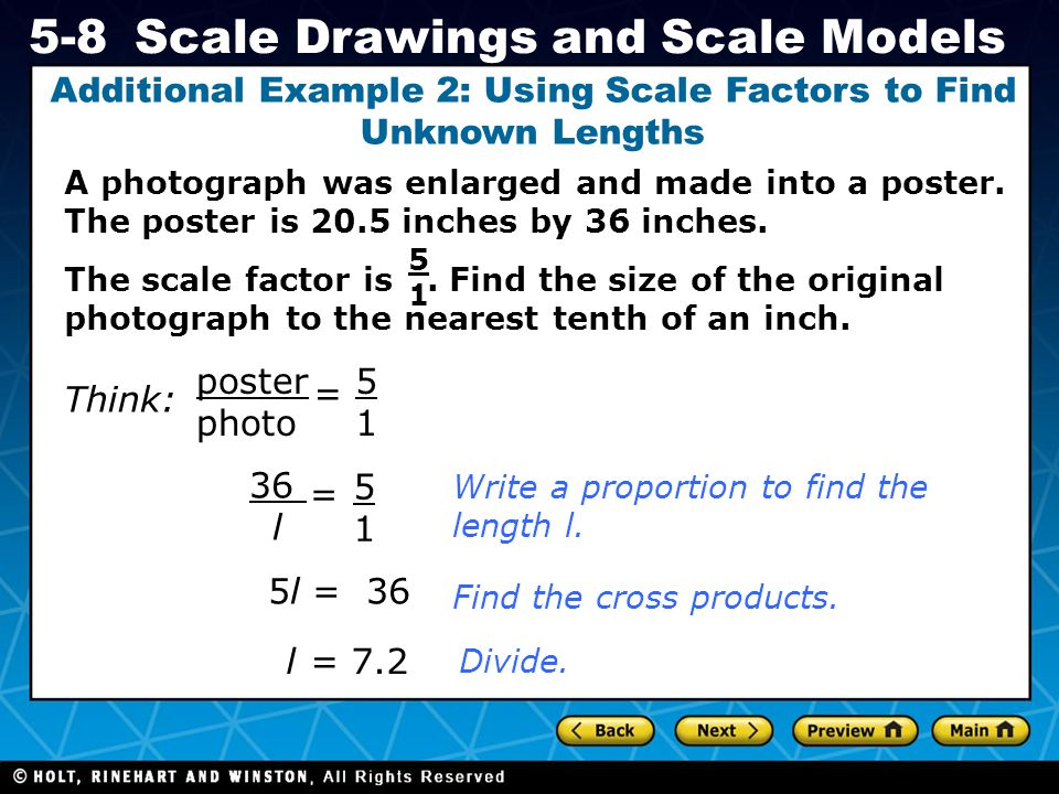 Additional Example 2: Using Scale Factors to Find Unknown Lengths