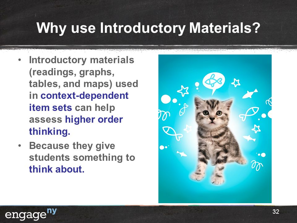 Why use Introductory Materials