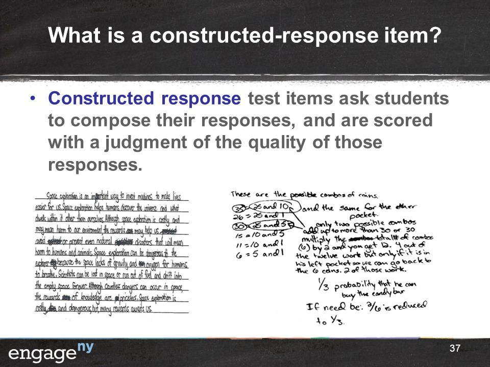 What is a constructed-response item