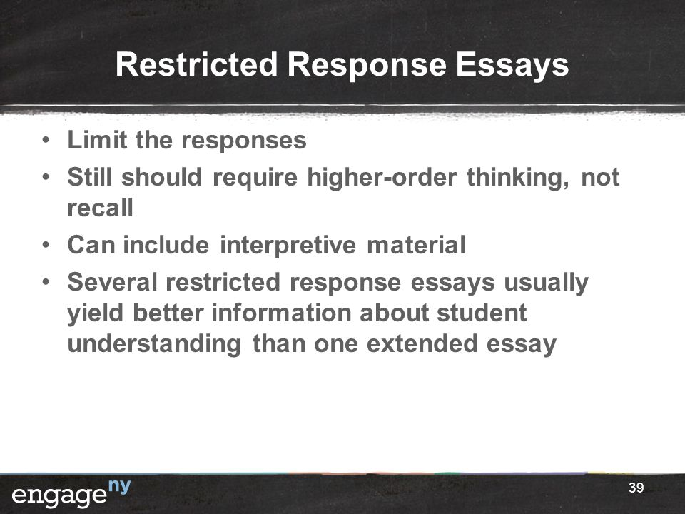 Restricted Response Essays