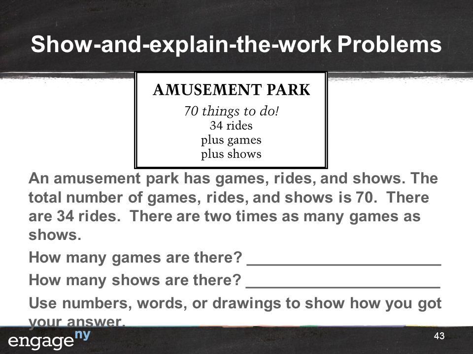 Show-and-explain-the-work Problems