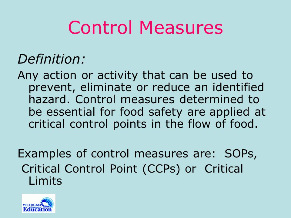 Control Measures Definition: