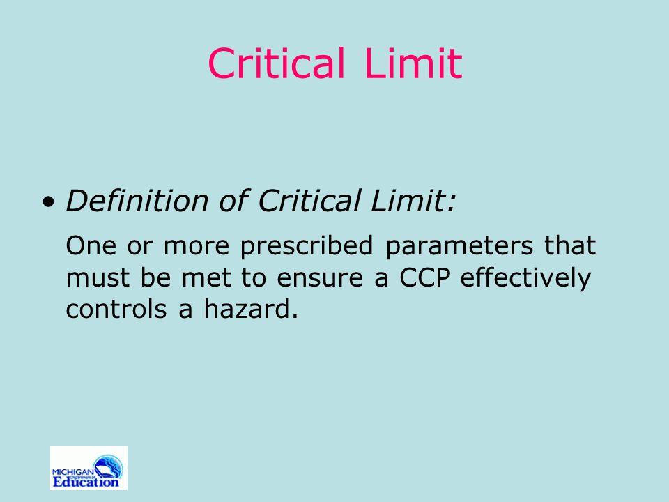Critical Limit Definition of Critical Limit: