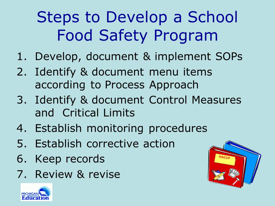 Blueprint For Developing A School Food Safety Program - Ppt Video