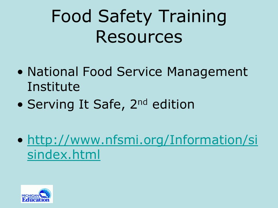 Food Safety Training Resources