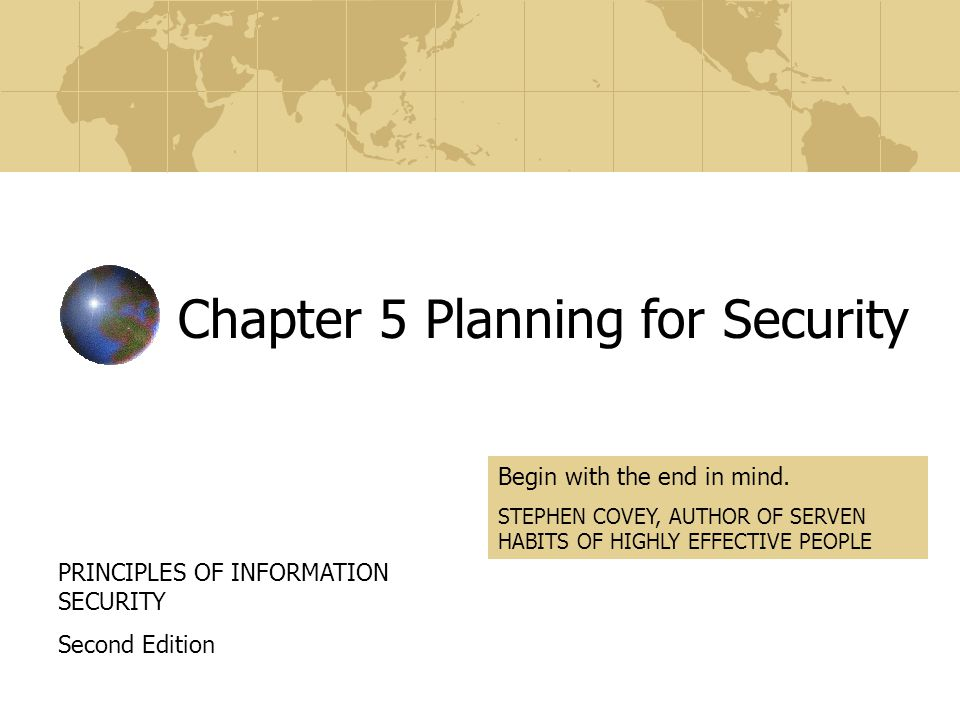 Chapter 5 Planning for Security
