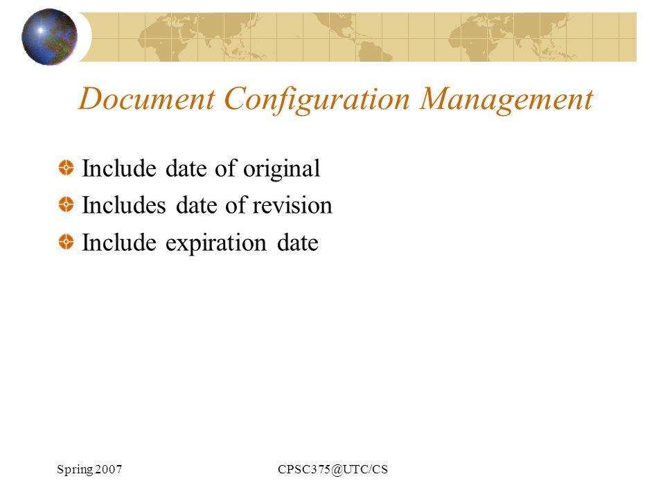 Document Configuration Management