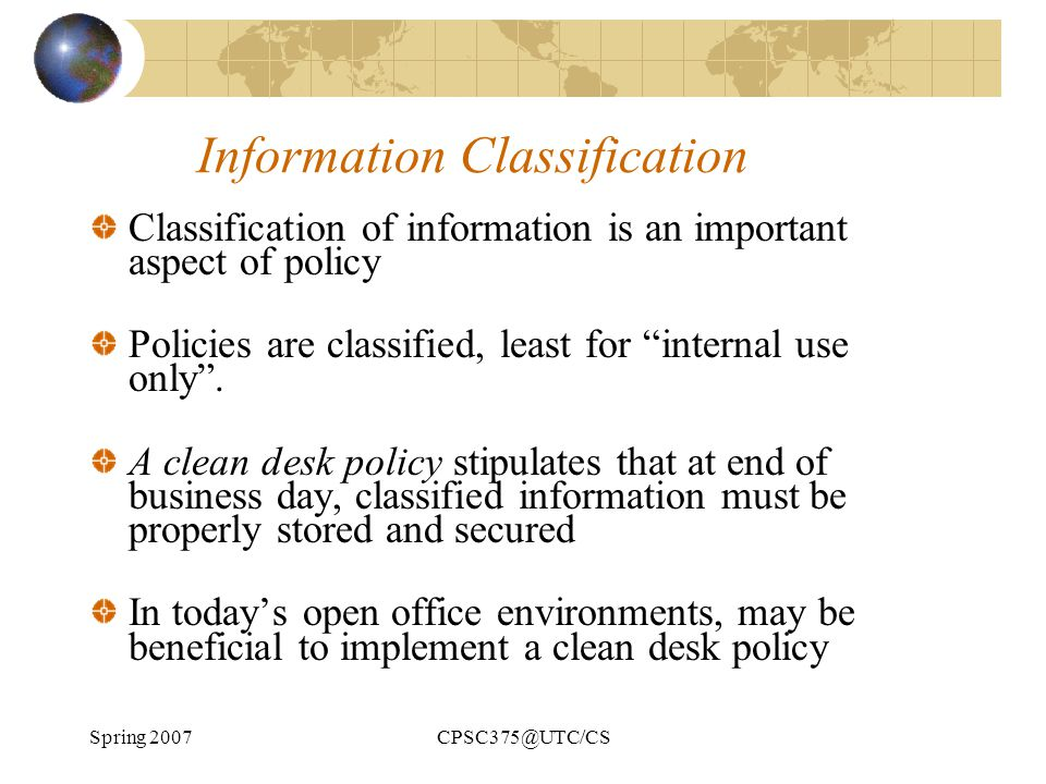 Information Classification