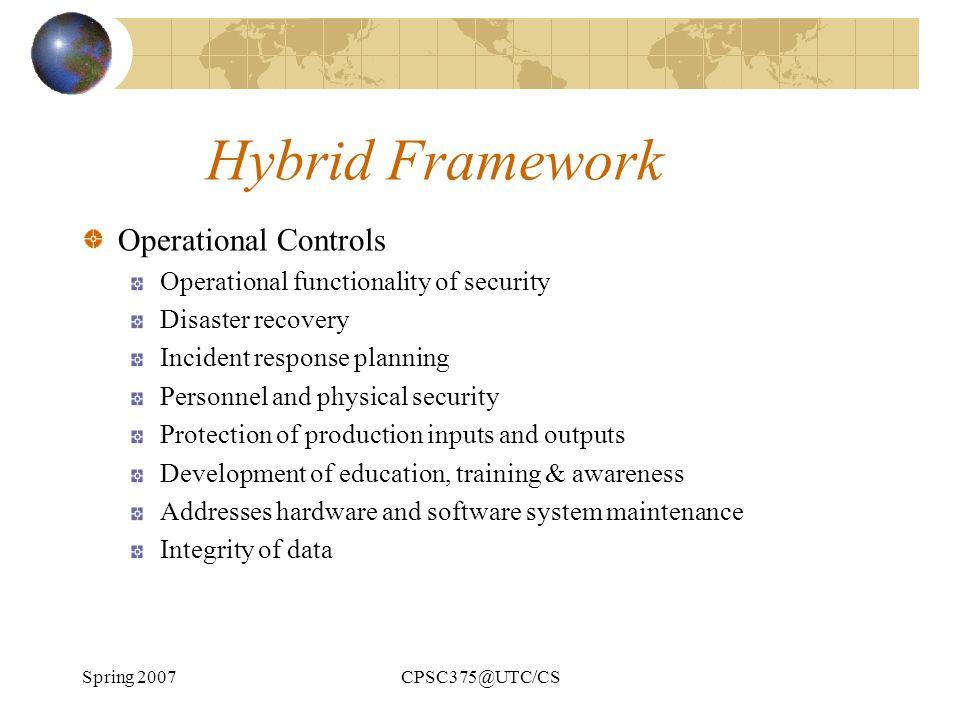 Hybrid Framework Operational Controls